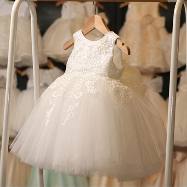 2016 New Lvory Wedding Dress Children Princess Dress Costumes Flower Girl Dress