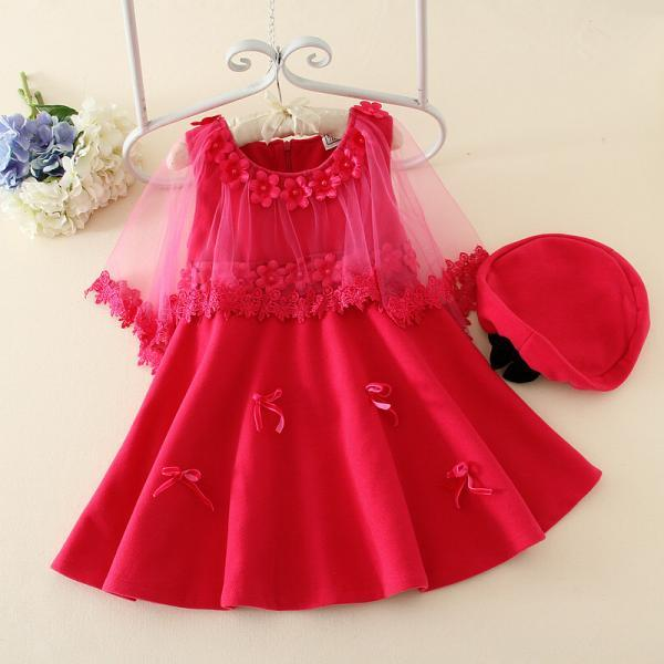 2016 New Spring Children Dress Gauze Skirt Children Princess Dress With Hat F-0059