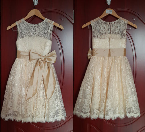 561fb62d0118 Lace Girl Dress Baptism Dress-Rustic Flower Girl Girl Dress-Bridesmaid Flower  Girls Korean StyleLace Summer Dress Party Dress Flower Girl Wedding  Bridesmaid