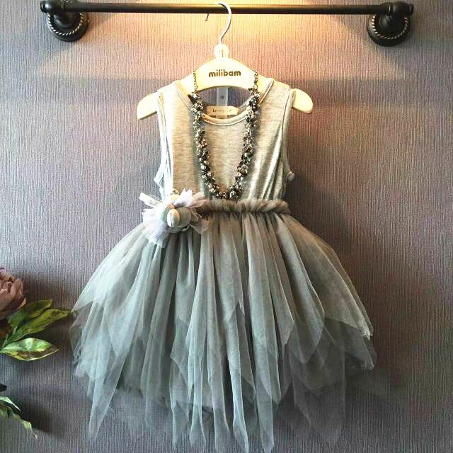 cb7e2c2d3dc 2016 New Summer Girls Dress Children Princess Dress Girls Veil Irregular  F-0018 on Luulla